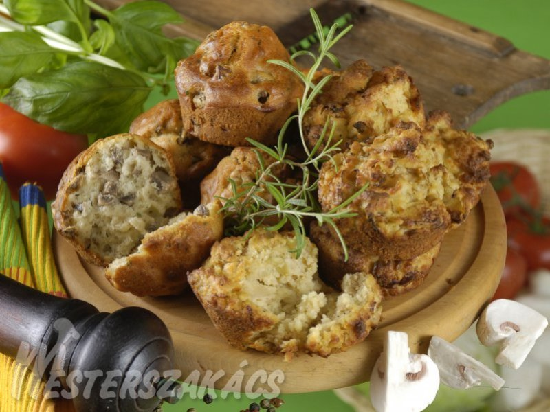 Sós muffin alaprecept recept