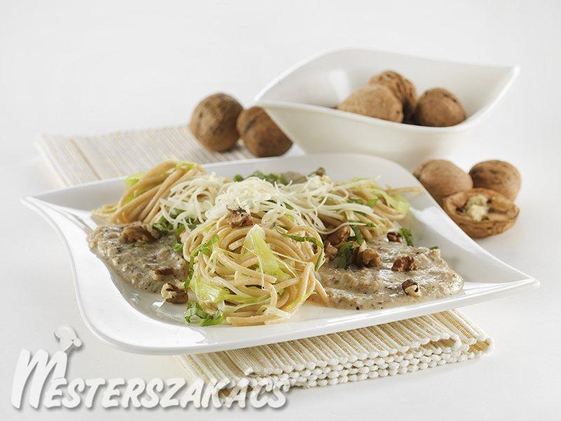 Spagetti diómártással recept