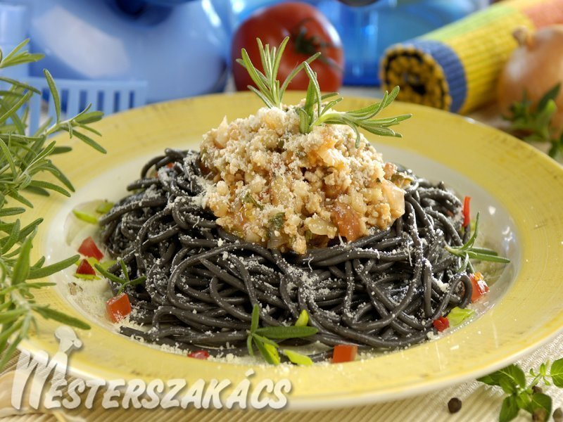 Sugo fekete spagettivel recept