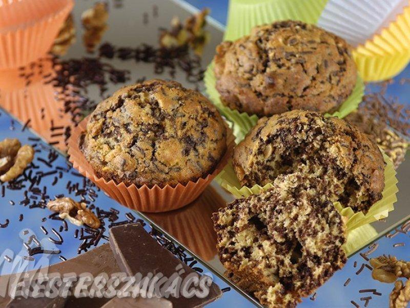 Sütőtökös, csokidarás muffin recept