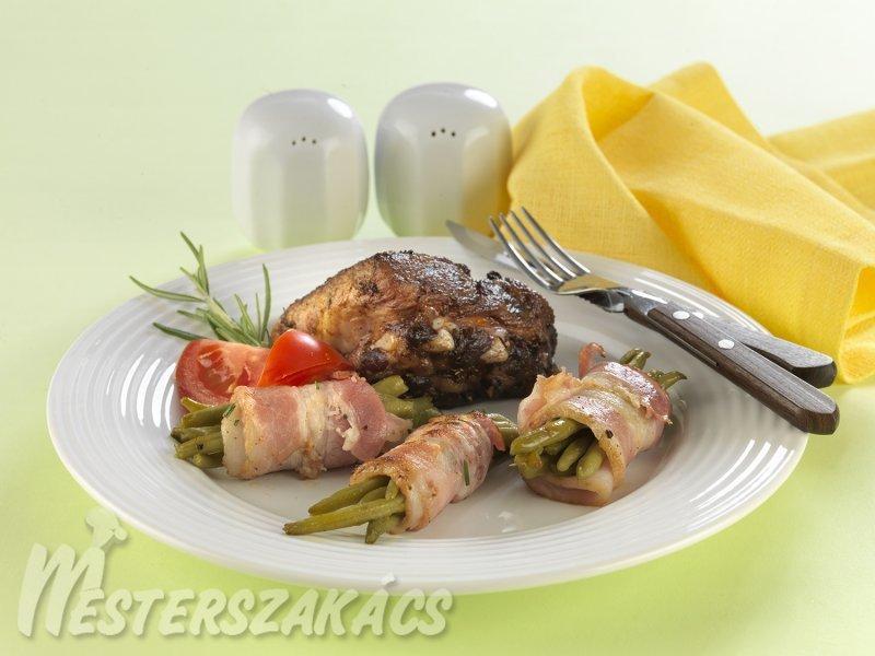 Szalonnás, rozmaringos zöldbab recept