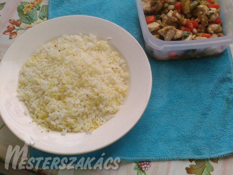 Tavaszi csirkés rizs recept