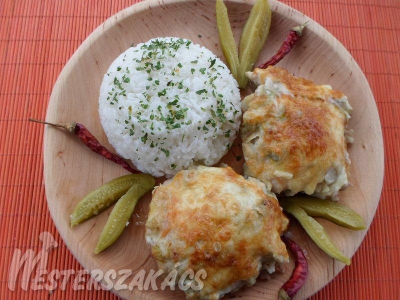 Tejszínes-spárgás csirkecomb recept