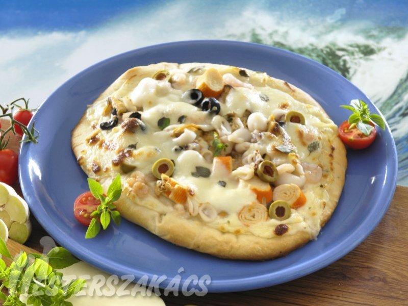 Tenger gyümölcsei pizza recept