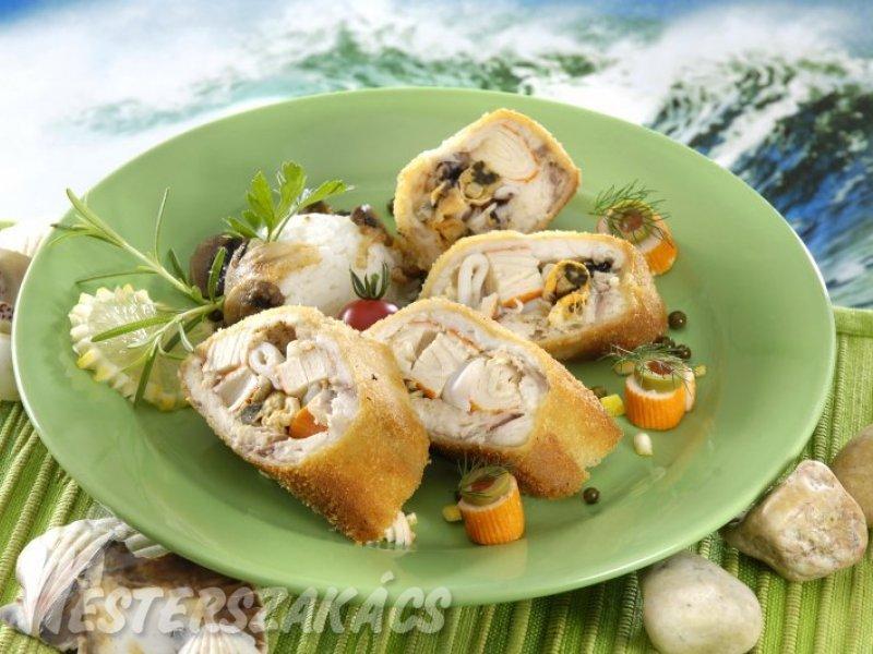 Tenger gyümölcseivel töltött rántott hal recept