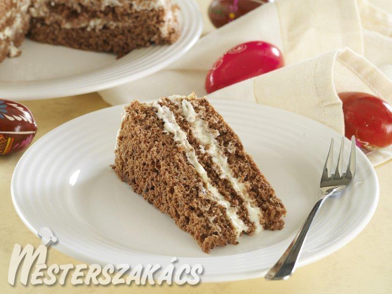 Tojáslikőrös, csokoládés torta recept