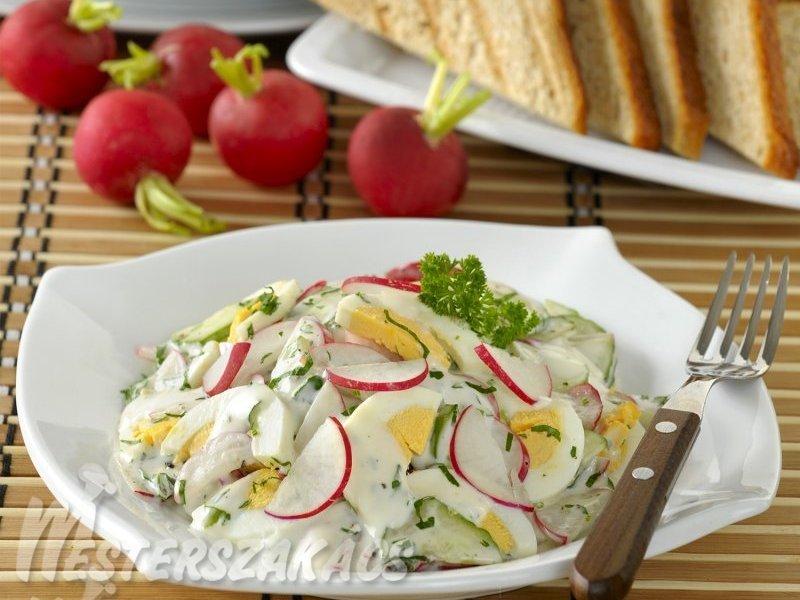 Tojásos reteksaláta, petrezselymes majonézzel recept