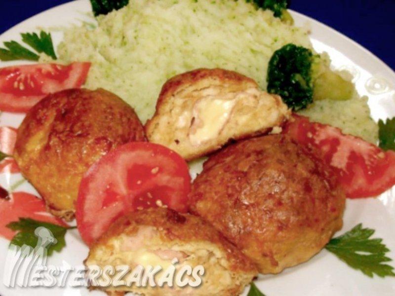 Töltött csirkefasírt recept