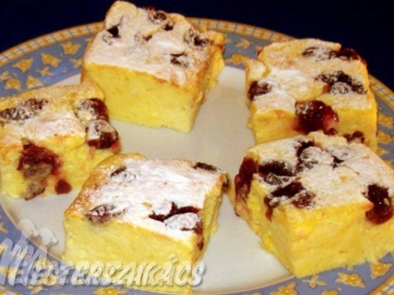 Túrókrémes sütemény recept