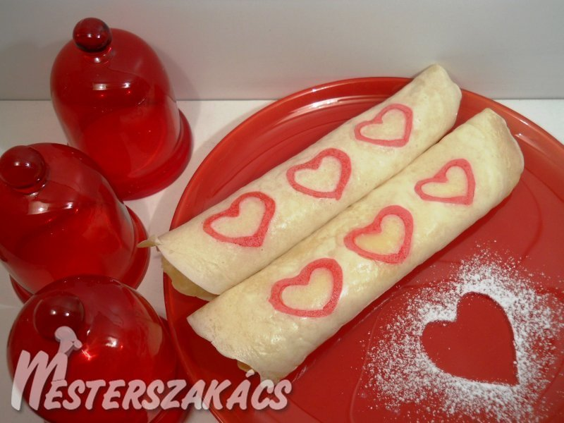 Valentin-napi palacsinta recept