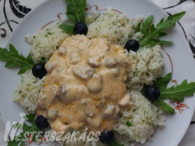 Vargányagombás karajszelet rizzsel recept