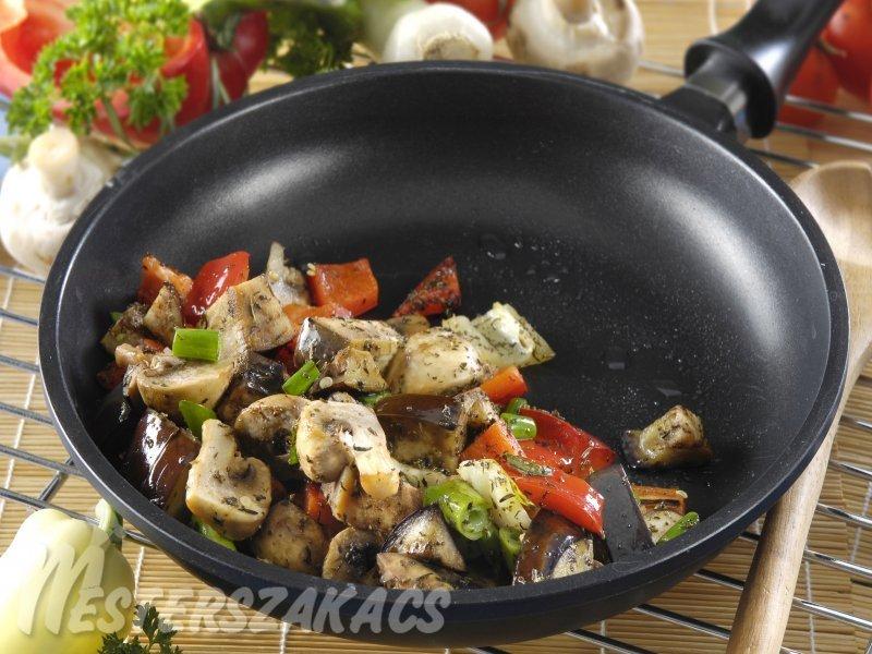 Wokban sült zöldségek recept