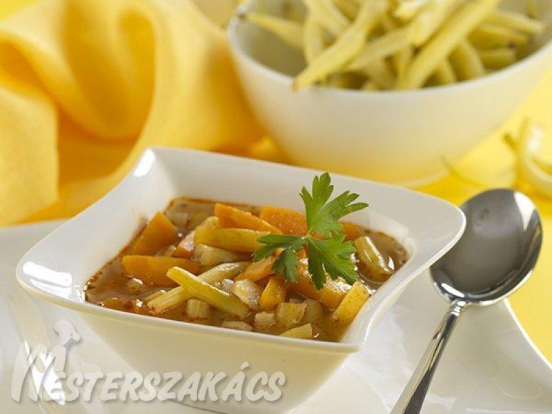 Zöldbableves recept