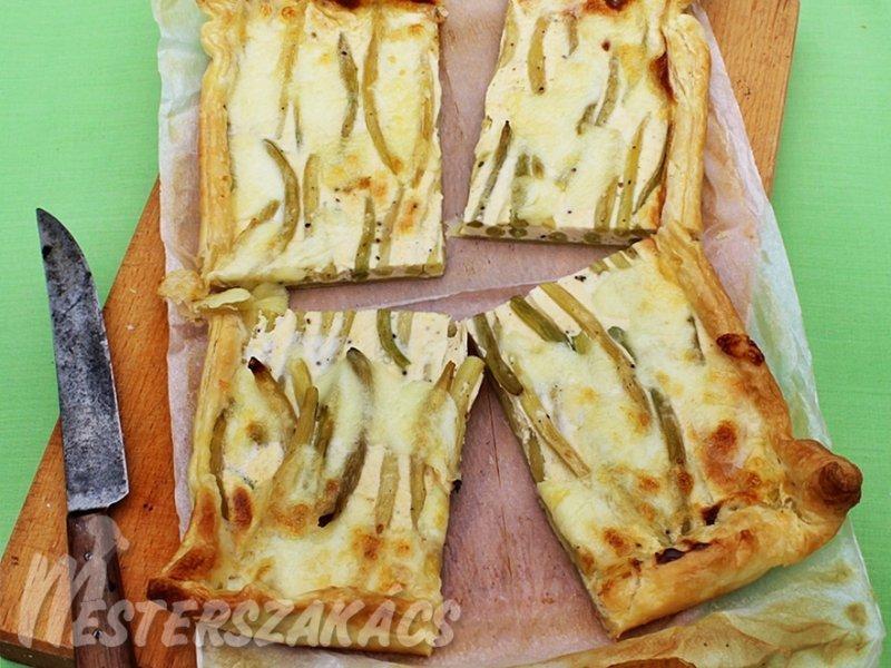 Zöldbabos lepény recept