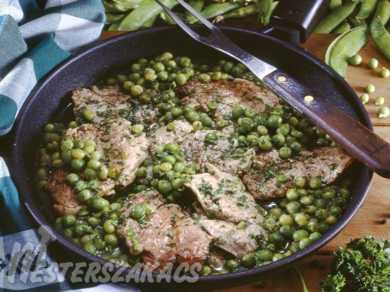 Zöldborsós szűzpecsenye recept