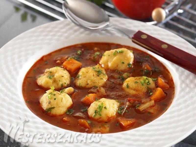 Zöldséges burgonyagombóc leves recept