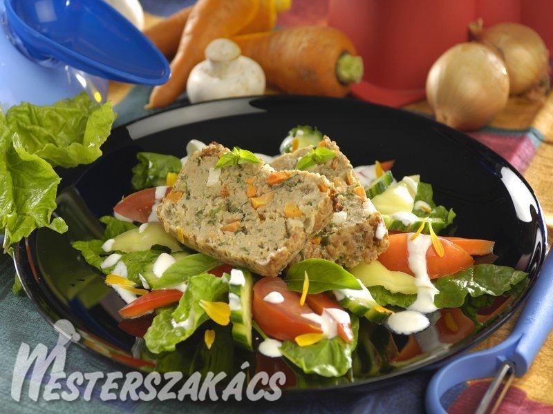 Zöldséges húskenyér recept
